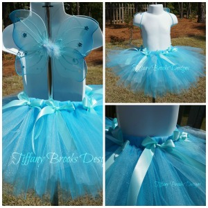 Blue Butterfly Tutu Collage