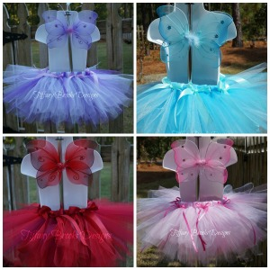 Colorful Butterfly Tutus Collage