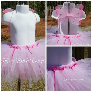 Pink Butterfly Tutu Collage