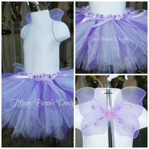 Purple Butterfly Set Collage