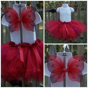 Red Butterfly Tutu Set Collage