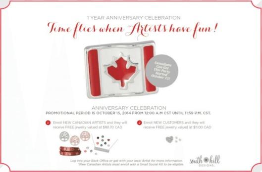 Canada One Year Anniversary 2014